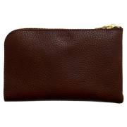 財布 ウォレット L字ファスナー パスポート スマートフォン パスポート ポシェット チョコ
