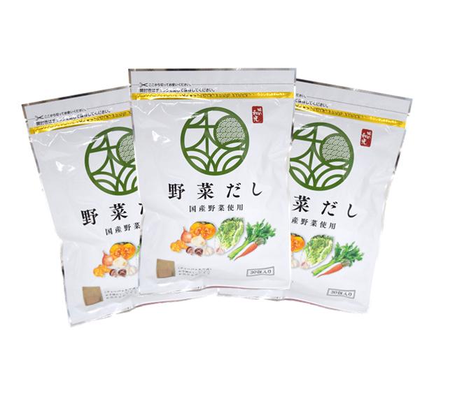 【選べるプレゼント】野菜だし30包×3袋【送料無料】
