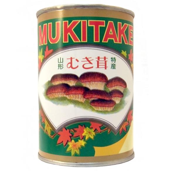 山形県産 【山菜缶詰】むき茸 (固形量:200g 内容総量:400g)