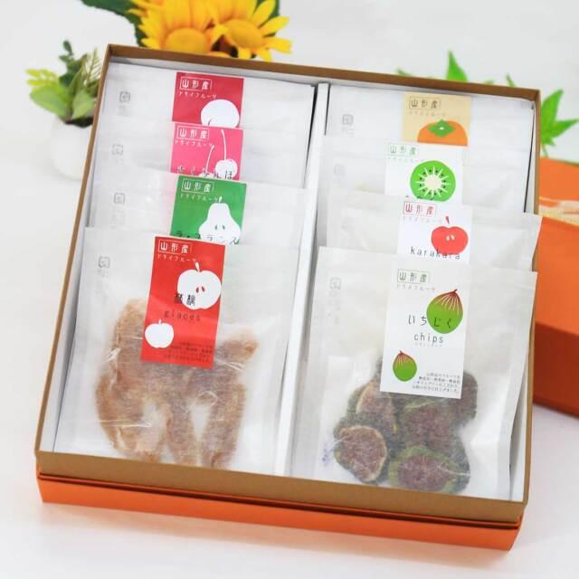 山形県産 ドライフルーツ おすすめグラッセ&チップス ギフトセット!【送料無料】