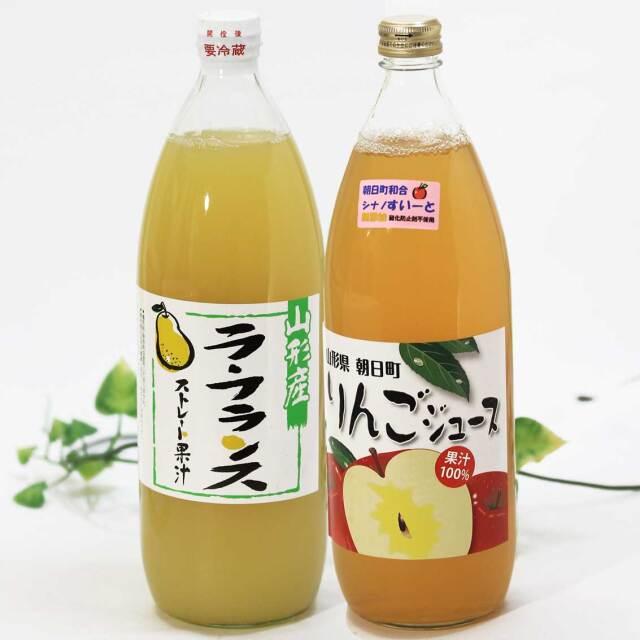 りんご(シナノすいーと)、ら・ふらんすジュース 1,000ml 2本セット【朝日町産果実】