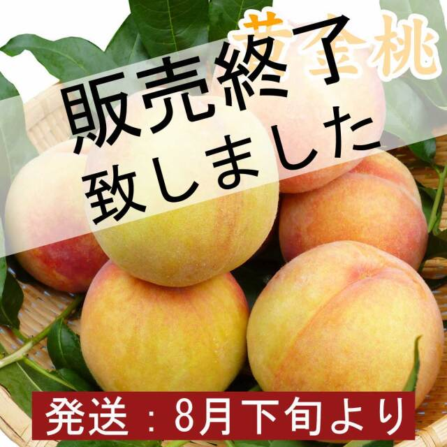 黄金桃(黄桃)6玉 2kg【ギフト、お祝い、化粧箱、贈答用】