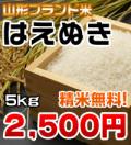 山形県産 【1等米】はえぬき 5kg