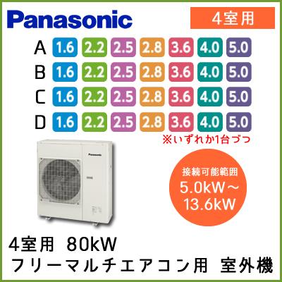 CU-4M802C2 パナソニック マルチ用 室外機 【4室用 5.0kW-13.6kWまで】