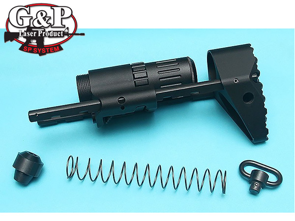Troy PDW Stock For Marui MWS (Black) [GP-MWS016BK]