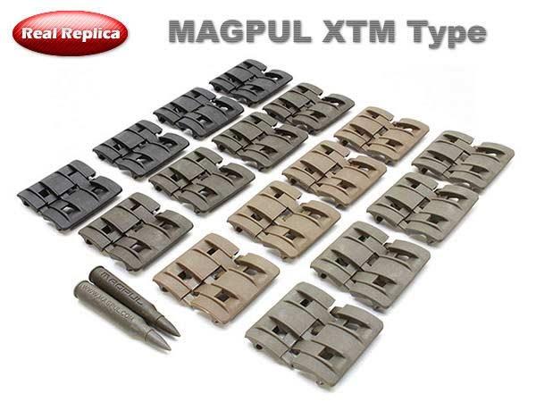 【MAGPULタイプレプリカ】XTM レイルパネル 4色セット(32ピース)