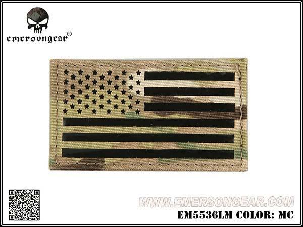 EMERSON製 アメリカ国旗 ワッペン パッチ ベルクロ付 (正向)