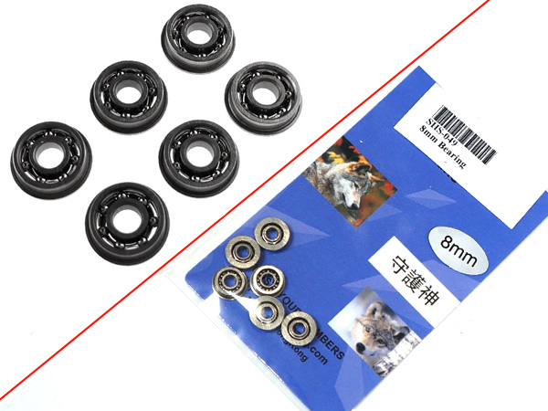 SHS製(守護神) 電動ガン メカボックス用 8mm ベアリング軸受け 6個入(メタル製)/SHS-049
