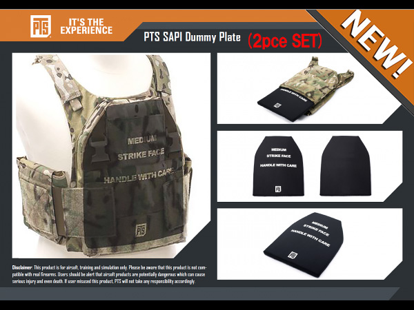 PTS SAPI Dummy Plates (Front & Back) 2枚セット