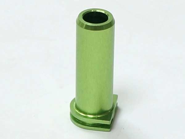 □【ネコポス可】【訳あり超特価】【金属製】Aluminum Air Seal Nozzle For M14 / アルミ エアシールノズル (M14) グリーン※根元固定部 U形状(国内法基準適用エアソフト専用品)