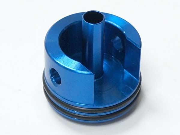 AK 電動ガン用 CNC アルミニウム シリンダーヘッド (ブルー)