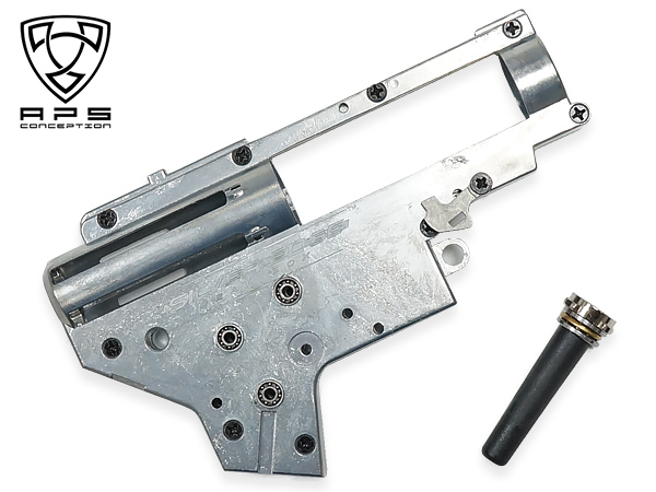[ APS製 ] 電動ガン用 クイックリリース 8mm ベアリング メカボックス(Ver.2 アンビセレクター対応) APS-22