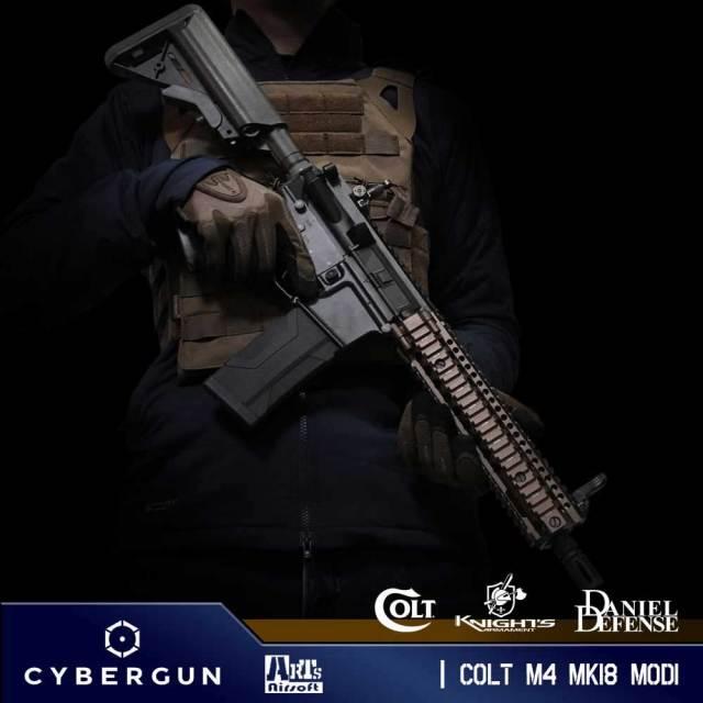 ◆【CYBERGUN & ARTS AIRSOFT製】 COLT M4 MK18 MOD1 コルト正式ライセンス コンプリート電動ガン本体 トレーニングウェポン (ATW)