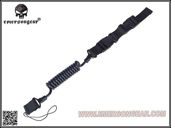 EMERSON製 ピストルランヤード ハンドガンスリング(ガンコード/ ピストルリーシュ)BK / EM8269