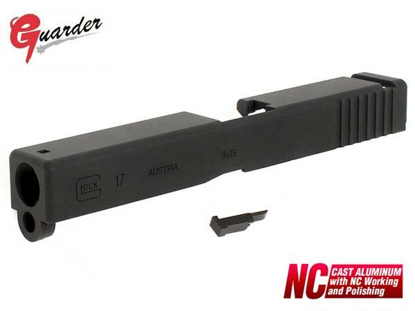 【GUARDER(ガーダー)製】G17 アルミスライド / 東京マルイ ガスブローバック GLOCKグロックG17対応 / GLOCK-16(BK)