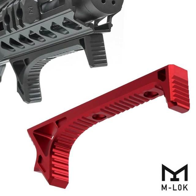 【METAL製】【Strike Industries タイプ】 M-LOK対応 LINK CURVED FOREGRIP アルミ製 BK ME06077
