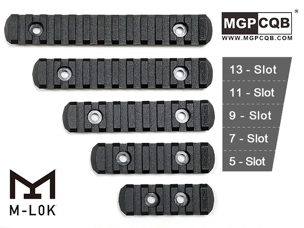 M-Lok ポリマー製ピカティニーレールセクション5種セット