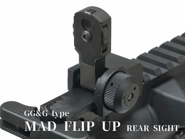 GG&G フリップアップ リアサイト MAD