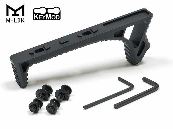 ☆M-LOK & KEYMODに両方対応した新バージョンが登場! 【ネコポス可】【Strike Industries タイプ】LINK CURVED FOREGRIP カーブドフォアグリップ (Mロック/キーモッド対応) アルミ製 - BK(ブラック)