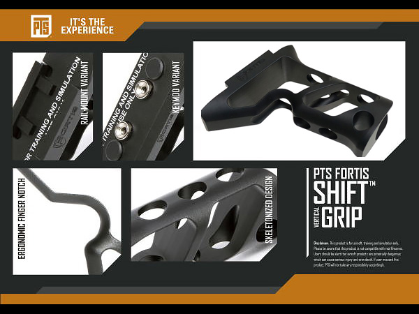 PTS Fortis Shift Short Angled Grip