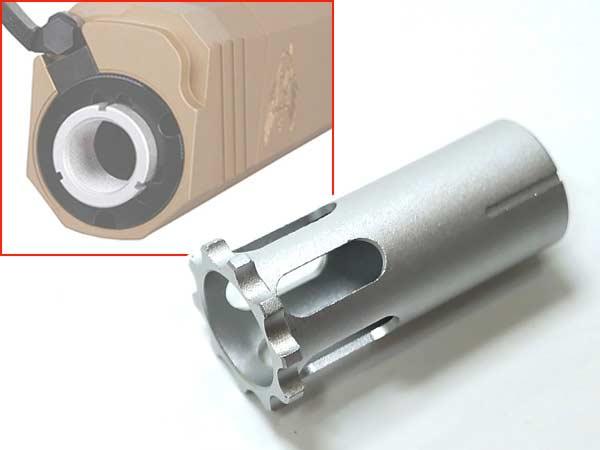 【アルミ製】OSPREYスタイルサプレッサー専用 交換用 14mm逆ネジ(CCW)アダプター SV