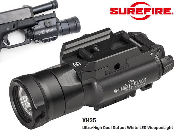 SUREFIRE XH35 – Ultra-High Dual Output White LED WeaponLight