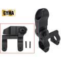 ☆【ネコポス可】CYMA製 CY-M050 電動ガン M4 M16用 SPRタイプ フリップアップ フロントサイト 金属製 - BK(ブラック)