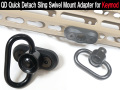 QD Quick Detach Sling Swivel Mount Adapter For Keymod Rail System Black
