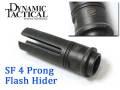 ☆【ネコポス可】SUREFIRE刻印入!!OMG製(DYTAC)【SUREFIREタイプレプリカ】SF 4 Prong Flash Hider  Replica / カスタムハイダー(14mm/CCW)/ OMG-FH01B-BK