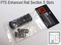 ☆【ネコポス可】【限定特価!!】本家【PTS製】PTS Enhanced Rail Section 5 Slots / PTS エンハンスドレールセクション 5スロット BK / PT117450307(国内法基準適用エアソフト専用品)