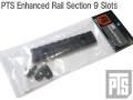 ☆【ネコポス可】【限定特価!!】本家【PTS製】PTS Enhanced Rail Section 9 Slots / PTS エンハンスドレールセクション 9スロット BK / PT119450307(国内法基準適用エアソフト専用品)