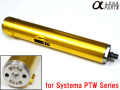 Alpha Parts M110 Cylinder Set for Systema Over 14.5 Inch Inner Barrel PTW M4 Series - Black