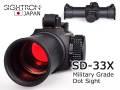 SIGHTRON サイトロン ダットサイト SD-33X / 完全防水・実銃対応(軍用規格 国産ダットサイト)R701