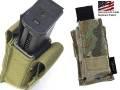 ☆実物コーデュラ使用 TMC社製 モール対応 ダブルカラム9mmMg対応 シングルピストルマグポーチ