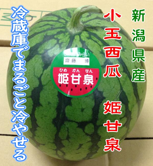 新潟県産 小玉西瓜 姫甘泉