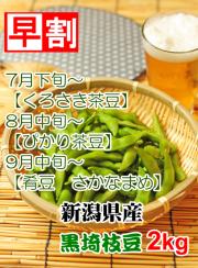 早割くろさき茶豆2kg