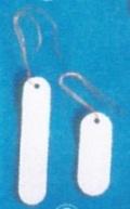 園芸ラベル吊型ホワイトラベル タテ5.0cm(銅線付)50枚