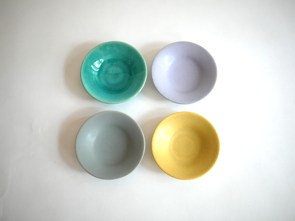 Awabi ware 丸豆皿