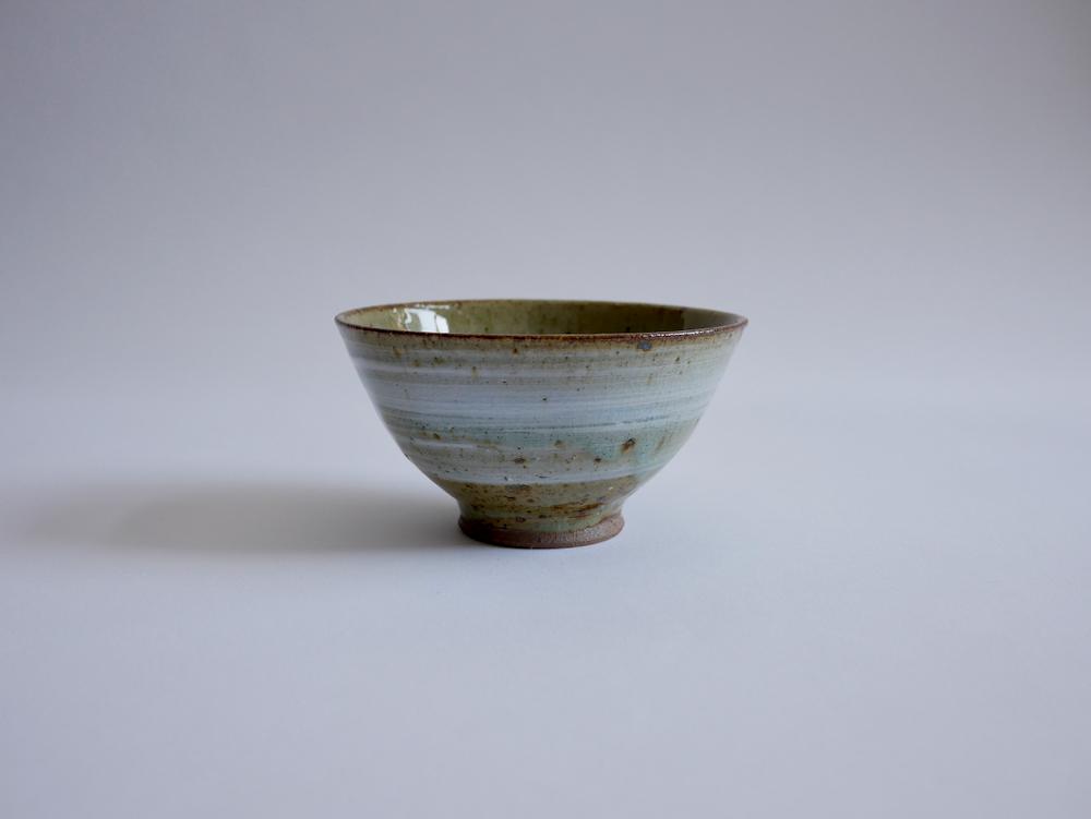 北岡幸士 桜灰釉飯碗