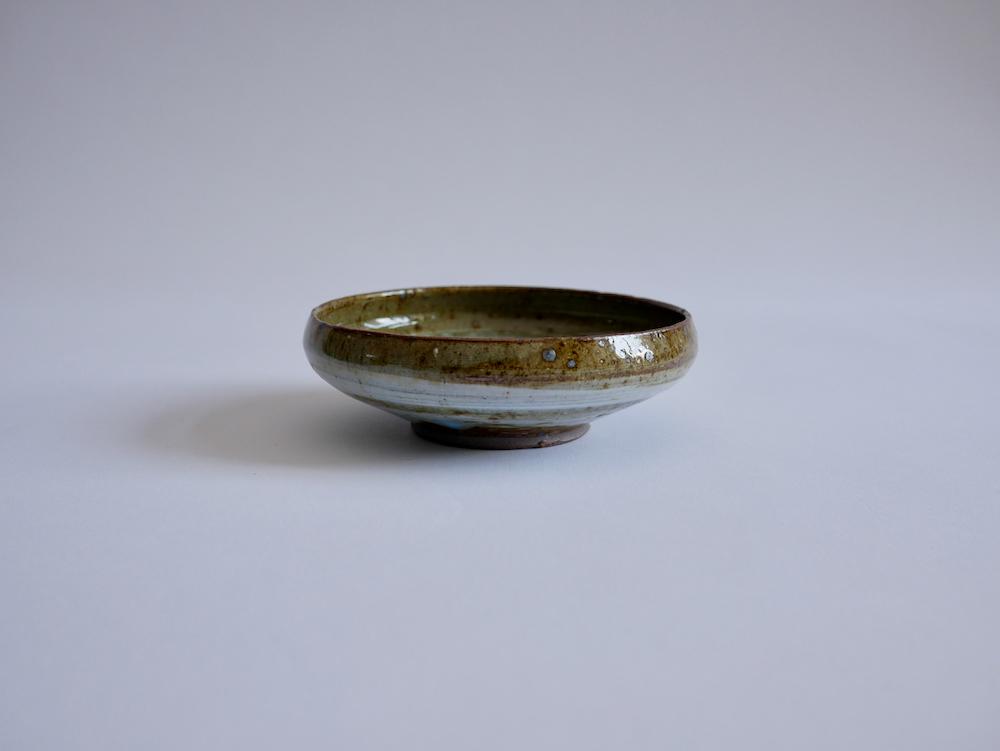 北岡幸士 桜灰釉平鉢4寸