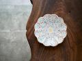 赤地径 牡丹文5寸皿