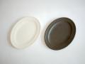Awabi ware 楕円平皿