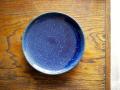 早川ヤスシ 瑠璃8寸皿