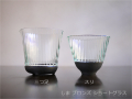 ILE8ガラス しま ブロンズ ショートグラス