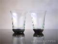 ILE8ガラス しま ブロンズ ビアグラス