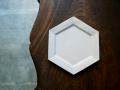 石川裕信 六角6寸皿(白)