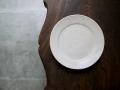 小山乃文彦 粉引6寸皿