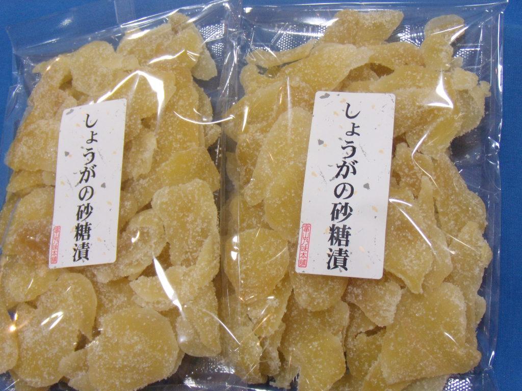 生姜砂糖漬け/スライス生姜糖/ドライジンジャー