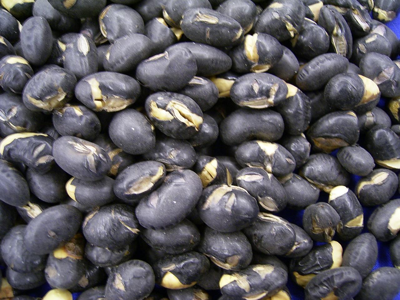 煎り黒豆(200g×2p)素焼の北海道黒大豆!パリポリ食べて健康♪