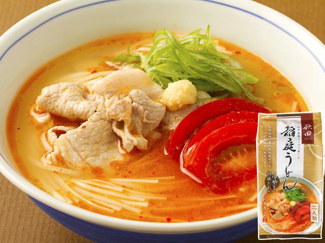 比内地鶏スープで食べる稲庭うどん 冷やし胡麻だれ味二人前